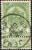 """COB   56 A (o) Oblitération """"Jemappes"""" T1L - 1893-1907 Wappen"""