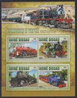 F90. Guinea-Bissau - MNH - 2016 - Transport - Trains - Steam - Transports