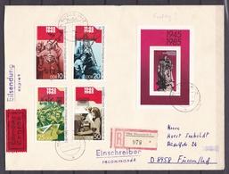DDR - 1985 - Michel Nr. Block 82+2941/44 - Einschreiben Eilsendung Expres - FDC - Ankunftstempel - DDR