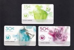 3  Carte Cadeau HYPER U   MENDE (48).   Gift Card. Geschenkkarte - Gift Cards