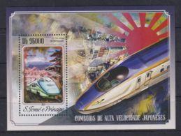 K90. Sao Tome & Principe - MNH - 2014 - Transport - Trains - Bl. - Transports