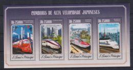 K90. Sao Tome & Principe - MNH - 2014 - Transport - Trains - Transports
