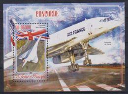K90. Sao Tome & Principe - MNH - 2014 - Transport - Airplanes - Bl. - Transports