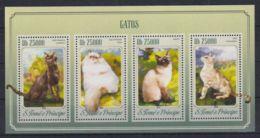 K90. Sao Tome & Principe - MNH - 2014 - Nature - Animals - Cats - Timbres