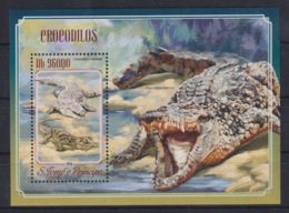 K90. Sao Tome & Principe - MNH - 2014 - Nature - Animals - Crocodiles - Bl. - Timbres