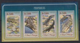 K90. Sao Tome & Principe - MNH - 2014 - Nature - Animals - Crocodiles - Timbres