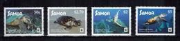 WWF W.W.F. Samoa Turtle / Turtles MNH Perf Stamps 2016 - W.W.F.
