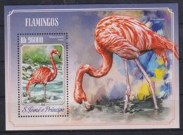 K90. Sao Tome & Principe - MNH - 2014 - Nature - Animals - Birds - Bl. - Timbres