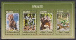 K90. Sao Tome & Principe - MNH - 2014 - Nature - Animals - Prehistorics - Timbres