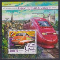 L90. Guinea - MNH - 2016 - Transport - Trains - Bl. - Transports