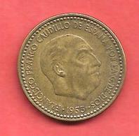 1 Peseta , ESPAGNE , Alu-Bronze , 1953 ( 61 ) , N° KM # 775 , N° Y113 - [ 5] 1949-… : Royaume