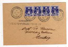 Tad NUREMBERG Bureau Temporaire Français 20 II 45 S / Env ( Pas De Tad D Arrivé Au Verso ) - Guerre De 1939-45