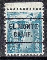 USA Precancel Vorausentwertung Preo, Locals California, El Monte 255 - Préoblitérés