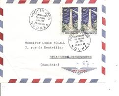 Nouvelle -Calédonie ( Lettre Premier Jour De 1965 De Nouméa Vers L'Allemagne à Voir) - FDC