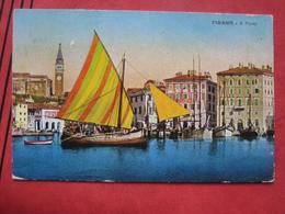 Piran / Pirano: Il Porto / Hafen Barke - Slovénie