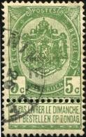"""COB   56 A (o) Oblitération """"Nivelles"""" T1L - 1893-1907 Wappen"""