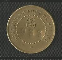 Jeton Militaire - Cantine Du Fort De Stains - 5 Centimes - Monnaie De Nécessité Numérotée 933 - Noodgeld