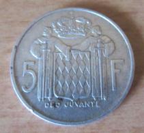 Monaco - Monnaie 5 Francs Argent Rainier III 1960 - Etat SUP - Monaco