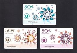 3  Carte Cadeau HYPER U   MENDE (48).    Gift Card. Geschenkkarte - Cartes Cadeaux