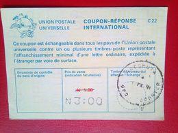 International Reply Coupon  3 Naira Overprint On 1 Naira - Nigeria (1961-...)