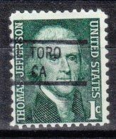 USA Precancel Vorausentwertung Preo, Locals California, El Toro 841 - Préoblitérés
