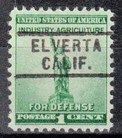 USA Precancel Vorausentwertung Preo, Locals California, Elverta 729 - Préoblitérés
