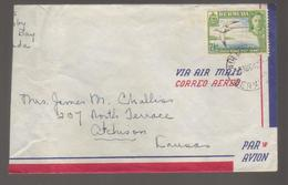 8340- Bermuda , British Colonies , Air Mail Cover – Left Part Of The Cover Is Missing - Bermudes