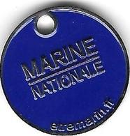 Jeton De Caddie  Bateau, Militaire  MARINE  NATIONALE  Recto  Verso - Jetons De Caddies