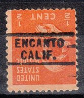 USA Precancel Vorausentwertung Preo, Locals California, Encanto 729 - Préoblitérés