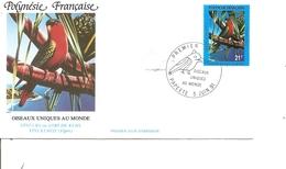 Tropicaux ( FDC De Polynésie De 1991 à Voir) - Perroquets & Tropicaux