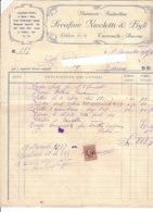 B2071 - FATTURA CARTA INTESTATA SERAFINO NICOLETTI - TAVERNELLE ANCONA - MARMISTI SCALPELLINI - MARCA DA BOLLO 1937 - Italy