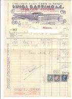 B2074 - FATTURA CARTA INTESTATA LUIGI GATTINO - STABILIMENTI RIUNITI CARTE DA PARATI MILANO TASSE DI BOLLO 1940 - Italia