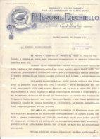 B2075 - CARTA INTESTATA LEVONI DI EZECHIELLO - CASTELLUCCIO MANTOVA - STABILIMENTO LAVOR. CARNE SUINA 1945/MAIALI/PIGS - Italia