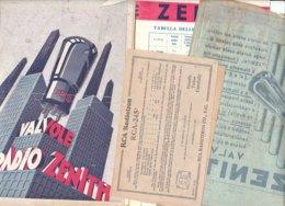 B2083 - Brochure RADIO Anni '30 - VALVOLE ZENITH - TABELLE - APPARECCHI - Radio & TSF