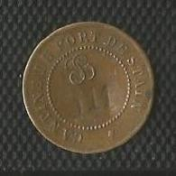 Jeton Militaire - Cantine Du Fort De Stains ( Stain Sans S Final ) - 50 Centimes - Monnaie De Nécessité Numerotée 911 - - Noodgeld