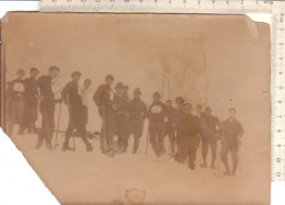 B2091 - FOTOGRAFIA MILITARI ALPINISTI SCIATORI Anni '30/ALPINI - War, Military
