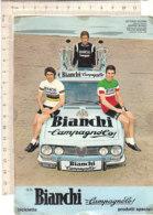 B2092 - CICLISMO - BICICLETTE BIANCHI CAMPAGNOLO PUBBLICITA' - V.ADORNI-M.BASSO-FELICE GIMONDI - AUTO ALFA ROMEO No VG - Cycling