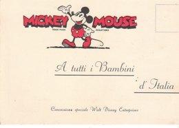 B2093 - TOPOLINO - MICKEY MOUSE WALT DISNEY - PUBBLICITA' DANIELE BELLAVITA MILANO - MAGLIERIE Anni '40 No VG - Disney