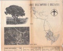 B2094 - CARTINA All. Rivista Panorama 1939 - AFRICA ORIENTALE IT. - ALA LITTORIA LINEE DELL'IMPERO - AVIAZIONE ORARI - Aviazione