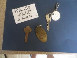 HOTEL,et Divers ,clefs Et Porte-clefs,3 ,pieces à Voir Et Etudier - Key-rings