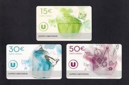 3  Carte Cadeau SUPER U  MATIGNON  (22).    Gift Card. Geschenkkarte - Gift Cards