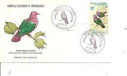 Oiseaux - Tourterelles ( FDC De Nouvelle-Calédonie De 1970 à Voir) - Oiseaux