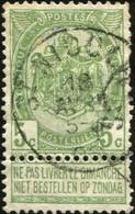 """COB   56 A (o) Oblitération """"St-Nicolas"""" T1L - 1893-1907 Wappen"""