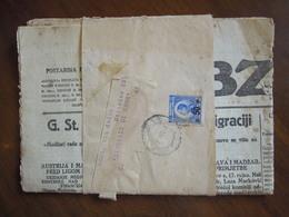 Francobollo N. 50 P.  Viaggiato 7. 9. 1925 Con Giornale OBZOR Per Italia - Francobolli Per Giornali