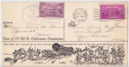 From Ipswich Massachusetts To Marietta Ohio 1937 Commemorative Us Cover Caravan Of The Pioneers To Northwest Territory - Event Covers