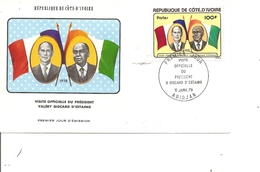 Cote D'Ivoire - Président Giscard D'Estaing ( FDC De 1978 à Voir) - Ivory Coast (1960-...)