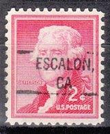 USA Precancel Vorausentwertung Preo, Locals California, Escalon 828 - Préoblitérés