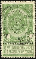 """COB   56 A (o) Oblitération """"Wevelghem"""" T1L - 1893-1907 Wappen"""