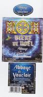 """Étiquette, Contre étiquette Et Collerette De Bière """" Abbaye De Vauclair Bière De NOEL """"  (2895)_eb133 - Beer"""