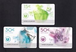 3  Carte Cadeau HYPER U  PLANCOET  (22).    Gift Card. Geschenkkarte - Cartes Cadeaux